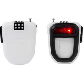 Hiplok FLX Sykkellås med integrerte LED-lys Hvit